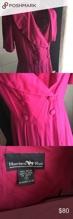 flash Sale 💕Hunters Run vintage dress 👗 Beautiful pink purple color. Size six, pleaded skirt, beautiful collar. Reminds me of the remakes from pin up girl clothing. Vintage Pink, Vintage Ladies, Pleaded Skirt, Vintage Closet, Girl Clothing, Size 6 Dress, Hunters, Pin Up Girls, Username