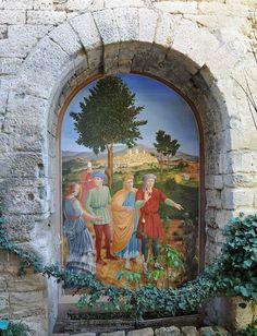 Uzes (Gard) Medieval Garden doorway