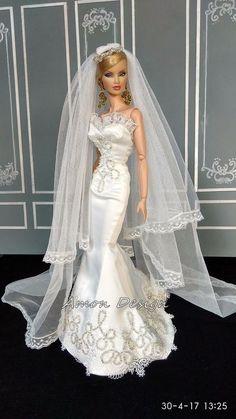 Amon Design Gown Outfit Dress Fashion Royalty Silkstone Barbie Model Doll FR | eBay