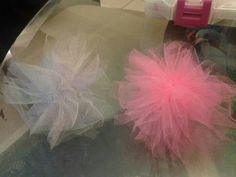 Tulle hair clips-$1.50 each