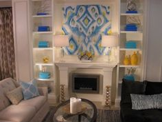 David Bromstad Blue and Yellow Living Room Design