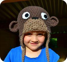 Cheeky LIttle Monkey hat pattern