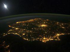 Portugal e Espanha vistos do Espaço