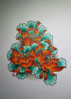 Back tattoo ideas – Food recipes Tropical Flower Tattoos, Tropical Flowers, Japanese Water, Water Flowers, Flower Tattoo Designs, Back Tattoo, Inked Girls, Watercolor Tattoo, Tattoo Ideas