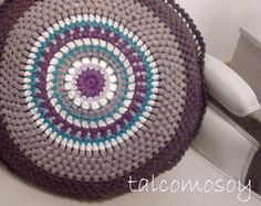 cojín mandala de ganchillo cushion