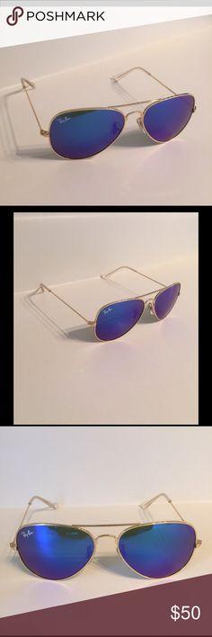 Ray Ban Aviator sunglasses Blue mirrored lens aviator sunglasses..58 mm Ray-Ban Accessories Sunglasses