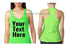eb1f6d7ff498ee Burn Out RacerBack Custom Tank - Personalized Tank Top - Custom Tank Top -  Custom shirts for women - custom clothing - custom work out tank