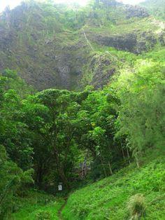 Haiku Stairs from the island of Oahu, Hawaii - Stairway to Heaven