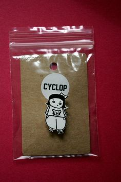 Shrink Plastic Brooch Pin Shrinky Dinks Rene by Cyclop on Etsy, $12.00