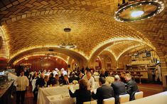 Grand Central Oyster Bar: Opened in 1913, the Grand Central Oyster Bar is a marvel to behold. With its vaulted, tiled ceilings, fresh seafood, and multiple little bars—including one behind swinging saloon doors—it's a delight.
