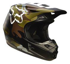 Fox Helm V1 Camo Grün Camo 2016