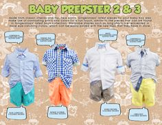 Gingersnaps Infant Boys Collection, Baby Prepster 2 & 3