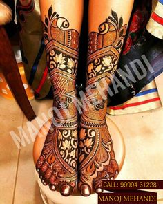 This is our latest foot #bridalmehndidesign by #ManojMehndiartist