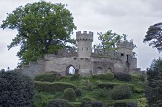 """The ruins of """"Ethelfleda's Mound"""" at Warwick Castle in Warwickshire, West Midlands, England. Originally built as a motte-and-bailey castle by William the Conqueror in 1068. Stone replaced the motte-and-bailey sometime between 1154-89, and towers were added circa 1330-60 and 1480. (Photograph by Richard A. Higgins, © 2007)"""