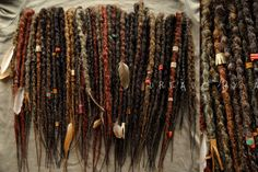 tribal knotty synthetic dreads full set by Ayadreads on Etsy