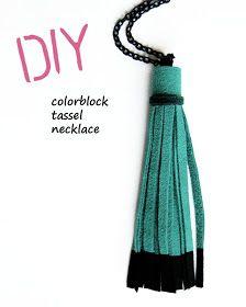 Wear The Canvas: DIY Fri: Color Block Tassel Necklace