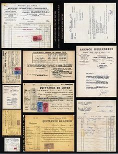 French Documents II Collage Sheet by lostartcreations on Etsy, $5.00