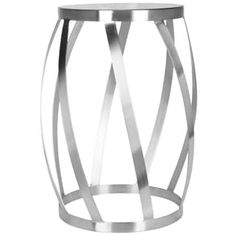 Safavieh Chic Curves Stainless Steel End Table | Overstock.com Shopping - The Best Deals on Coffee, Sofa & End Tables