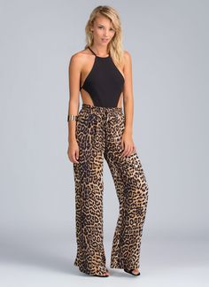 Going on the prowl tonight for some unsuspecting prey? We have the perfect leopard palazzo pants for that.
