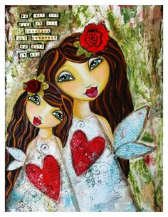 mother daughter bond  Art Journal