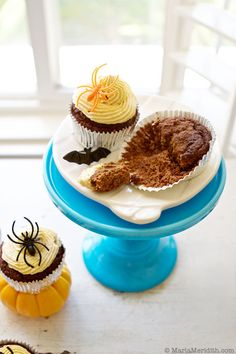 Chocolate Cupcakes with Pumpkin Whipped Cream - almond flour, coconut ...