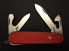 Victorinox Red Alox Old Cross Cadet II Swiss Army Knife Rare