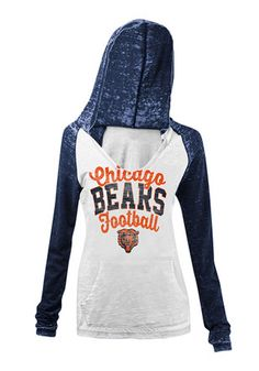 Chicago Bears Womens White Raglan T-Shirt Pitsburgh Steelers, Pittsburgh Steelers Merchandise, Pittsburgh Steelers Jerseys, Chicago Bears Women, Chicago Bears T Shirts, Bear T Shirt, Sweatshirts, Long Sleeve, Sleeves