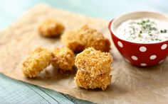 Baked Chicken Nuggets with Dilly Ranch Dip + 5 More Healthy Recipes for Homemade Chicken Nuggets