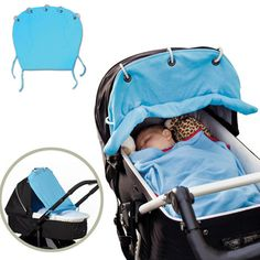 Kid Infant Baby Strollers Buggy Sun Window Rolled Up Full Shade Cloth Cotton