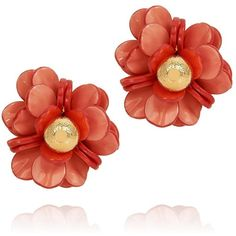 Tory Burch Pentier Rose Earrings ($88) ❤ liked on Polyvore featuring jewelry, earrings, accessories, tri color gold earrings, rose gold earrings, rose earrings, tory burch earrings and multicolor earrings