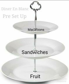 DinerEnBlanc Pre Set Up for your Table. Base on a New Orleans Vibe. Macaroons, Tiered Cakes, Base, Fruit, Shoes, Macaroni, Zapatos, Macarons, Shoes Outlet