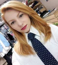 Tailor Selfie In Formal Work Outfit With White Shirt And Tie