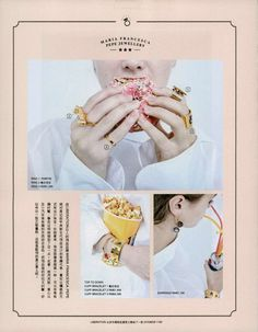 MFP jewellery as seen on Milk China Nov 16 Aries, Winter 2017, Fall Winter, Playing Cards, Milk, China, Jewellery, Collection, Jewels