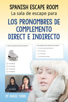 Spanish Digital Escape Room for the Direct and Indirect Object Pronouns Spanish Interactive Notebook, Interactive Notebooks, Ap Spanish, Spanish Lessons, Escape Room, Spanish Activities, Spanish Games, Breakout Game, Object Pronouns