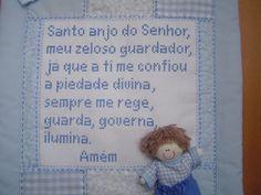 PANÔ COM ORAÇÃO DO SANTO ANJO- MENINO