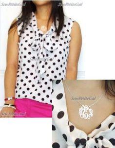 DIY Clothes DIY Refashion DIY Bow-neck Top from Scrap Fabric