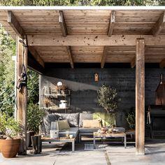 Backyard Pavilion, Backyard House, Outdoor Garden Lighting, Outdoor Dining, Outdoor Decor, Porch Veranda, Covered Garden, Rustic Room, Pergola Designs
