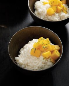 Coconut gives you natural energy, and the mango & Thai Basil are natural oppents to your health. Coconut Rice Pudding with Mango & Thai Basil - via Sweet Paul Thai Basil Recipes, Asian Recipes, Sweet Recipes, Healthy Recipes, Food Porn, Sweet Paul, Tasty, Yummy Food, Food Inspiration