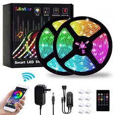 LED Strip Lights, Color Changing Rope Lights SMD 5050 Flexible RGB Light Strips with Bluetooth Controller Sync to Music Apply for TV Bar Counter Cabinet Party Christmas Decoration: Musical Instruments Led Light Strips, Led Strip, Color Changing Rope Lights, Light App, Led Flexible Strip, Bar Counter, Luz Led, Kids Sleep, Strip Lighting