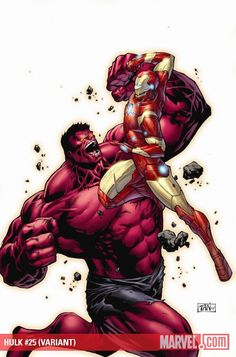 Red Hulk vs. Iron Man by Philip Tan
