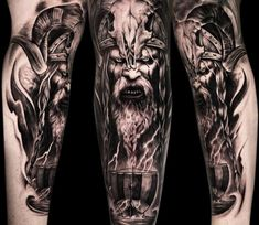 Tattoo photo - Viking tattoo by Marcos Martins Warrior Tattoo Sleeve, Viking Tattoo Sleeve, Arm Sleeve Tattoos, Forearm Tattoos, Viking Tattoos For Men, Viking Warrior Tattoos, Celtic Tattoos, Koi Tattoo Design, Viking Tattoo Design