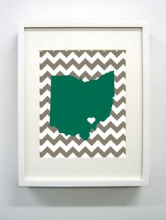 Ohio University Glicée Print  8x10  Go Bobcats  by PaintedPost