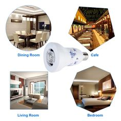 2015 NEWEST Excelvan® 2-in-1 Design Porcelain Dimmable E27 LED Light Bulb Wireless Bluetooth Speaker