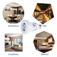 2015 NEWEST Excelvan® 2-in-1 Design Porcelain Dimmable E27 LED Light Bulb Wireless Bluetooth Speaker
