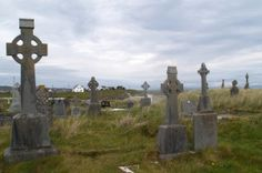 An Irish Funeral Celebration - This cemetery on Inishmore island, Ireland is still in use today