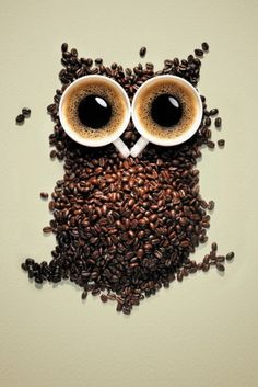 OMG!! Two of my favorite things. Coffee and owls:)