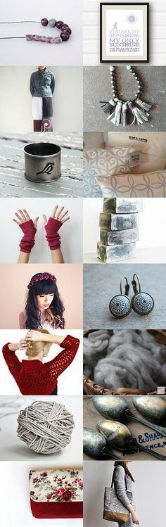 burgundy and gray spring by kate on Etsy--Pinned with TreasuryPin.com