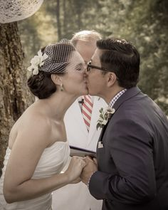 Photos by Clay - Wedding Portraits - The Kiss Bride and groom