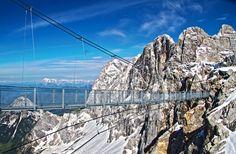 Offering vertiginous views of the Alps, the newly opened Hängebrücke am Dachstein is the highest suspension bridge in Austria.