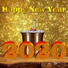 Happy New Year 2020 eCard - Megaport Media Happy New Years Eve, Happy New Year 2020, Happ New Year, Birthday Wishes Greetings, Share Pictures, Animated Gifs, Christmas Decorations, Xmas, Diy